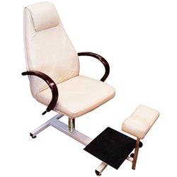 Педикюрное кресло Арамис (000307) стеллаж, газлифт, качание - белый