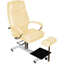 Педикюрное кресло Кардинал (000725) стеллаж, гидравлика - светло-золотой