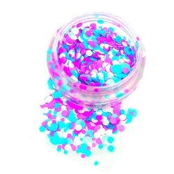 Конфетти для дизайна ногтей YRE, голубой-розовый-белый
