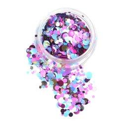 Конфетти для дизайна ногтей YRE, голубой-розовый-золото