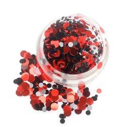 Конфетти для дизайна ногтей YRE, черный-красный