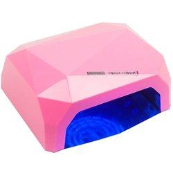 LED+CCFL лампа кристалл 36 Вт сенсор, розовый