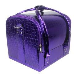 Чемодан для мастера YRE фиолетовый перламутр под кожу крокодила