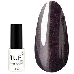 Гель-лак TUFI Profi №106 - темно-сливовый с коричневым микроблеском, 8 мл