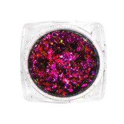 Хлопья Юки Tufi Profi №9 северное сияние, цвет мовеин (Анилиновый пурпур)