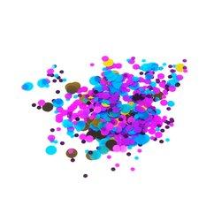 Конфетти для дизайна ногтей, фиолетово-голубой