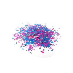 Конфетти для дизайна ногтей, розово-голубой