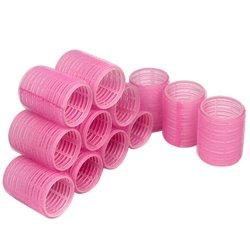 Бигуди липучки YRE 44 мм - розовый, 12 шт