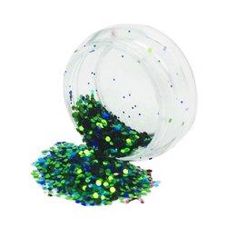 Конфетти для дизайна ногтей YRE, зеленый-синий