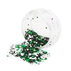Конфетти для дизайна ногтей YRE, черный-зеленый-белый