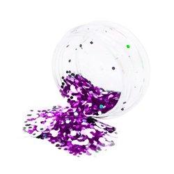 Конфетти для дизайна ногтей YRE, черный-фиолетовый-белый