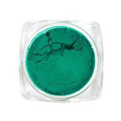 Пигмент для ногтей, с термо эффектом №6 — темный весенне-зеленый