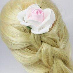 Фоамиран цветок - бело-розовый, 7 см (303-052), 1 шт