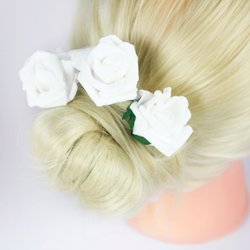 Фоамиран цветок - белый, 5см, 1 шт