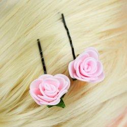 Невидимка, фоамиран цветок - розовый, 2,5см