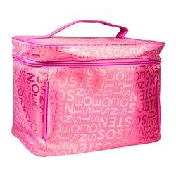 Косметичка-чемоданчик - ярко-розовый с буквами (CR-498)