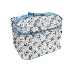 Косметичка-чемоданчик - бантик голубой большой (CR-488)