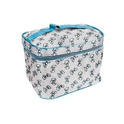 Косметичка-чемоданчик - бантик голубой маленький (CR-466)