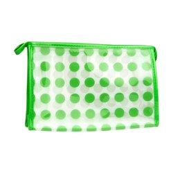 Косметичка прозрачная - зеленый горох (CR-18)