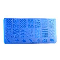 Пластина-трафарет для стемпинга YRE XY-L03 пластик, синий