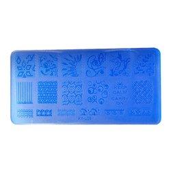 Пластина-трафарет для стемпинга YRE XY-L06 пластик, синий