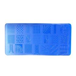 Пластина-трафарет для стемпинга YRE XY-L10 пластик, синий