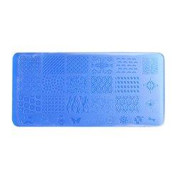 Пластина-трафарет для стемпинга YRE XY-L23 пластик, синий