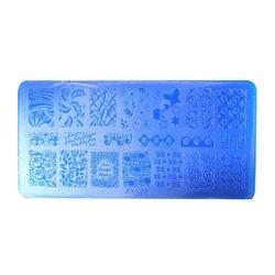 Пластина-трафарет для стемпинга YRE XY-L24 пластик, синий