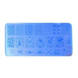 Пластина-трафарет для стемпинга YRE XY-L27 пластик, синий