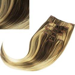Волосы на заколках Diamond 222+15 см color L12/26, 8 прядей, 45-47 см