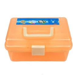 Контейнер для хранения инструментов YRE со сьемным отделением,  маленький оранжевый