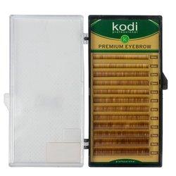 Брови Kodi прямой завиток - коричневый, 0,10 12 рядов 4-2, 5-3, 6-3, 7-2, 8-2 (20027735)