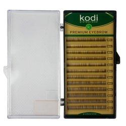 Брови Kodi натуральный завиток темно-коричневые 0,06 12 рядов