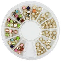 Декор в кассетке YRE жемчуг разноцветный в оправе Mix