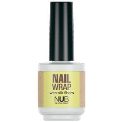 NUB Nail Wrap - средство для укрепления ногтей с волокнами шелка, 15 мл