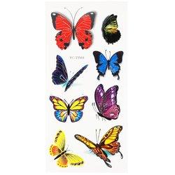 Флеш-тату Цветной блик YC-TY001 бабочки