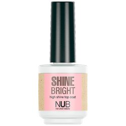 NUB Shine Bright Top Coat - верхнее защитное покрытие, 15 мл