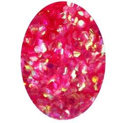 Декор в баночке блестки шестигранник, ярко-розовый перламутр