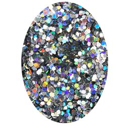 Декор в баночке блестки шестигранник STARLET, серебро