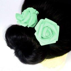 Шпилька для волос, фоамиран цветок - мятный, 5см, 1 шт