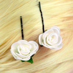 Невидимка, фоамиран цветок - айвори, 2,5см, 1 шт