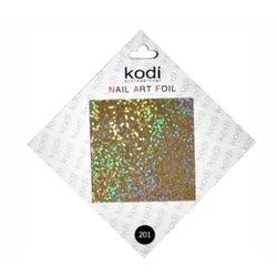 Фольга для литья №201 Kodi Золотой голограммный