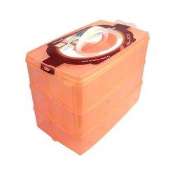 Контейнер 3 секции средний оранжевый