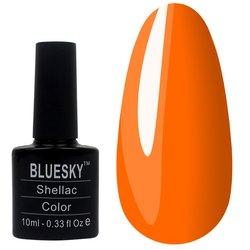 Гель-лак BLUESKY №166 - неоновый оранжевый, 10 мл