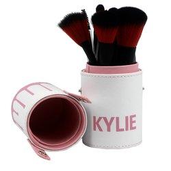 Кисти Kylie в тубусе (бело-розовый),12 шт