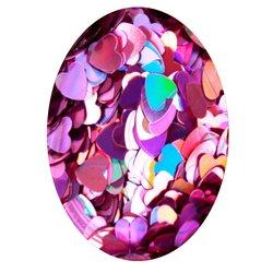 Декор в баночке блестки сердечко STARLET, лиловый голографик