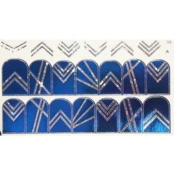 Слайдер дизайн №99 - серебро-синий (двойной фольгированный)