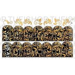 Слайдер дизайн №51 - золото-черный (двойной фольгированный)
