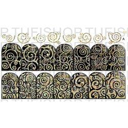 Слайдер дизайн №58 - золото-черный (двойной фольгированный)