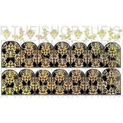 Слайдер дизайн №86 - золото-черный (двойной фольгированный)